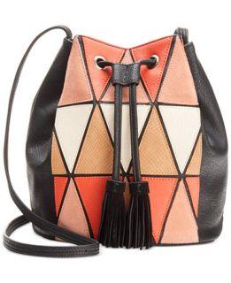 BCBGeneration La Vie Boheme Patchwork Bucket   Handbags & Accessories