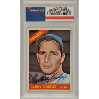 Sandy Koufax Los Angeles Dodgers  Authentic Autographed 1966 Topps #100 Card