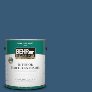 BEHR Premium Plus 1 gal. #ICC 85 China Pattern Zero VOC Semi Gloss Enamel Interior Paint 330001