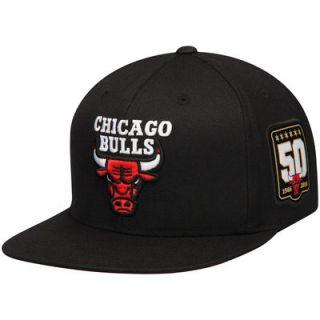 Chicago Bulls Mitchell & Ness 50th Anniversary Adjustable Hat   Black