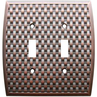 allen + roth 2 Gang Dark Oil Rubbed Bronze Toggle Wall Plate