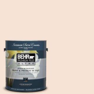 BEHR Premium Plus Ultra 1 gal. #RD W13 Almond Kiss Satin Enamel Interior Paint 775001