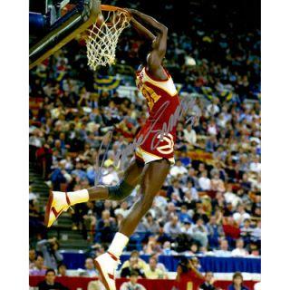 Dominique Wilkins Atlanta Hawks  Authentic Autographed 16 x 20 Reverse Dunk Photograph