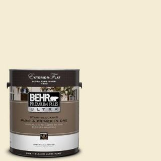 BEHR Premium Plus Ultra 1 gal. #360C 1 Clear Yellow Flat Exterior Paint 485001   Mobile