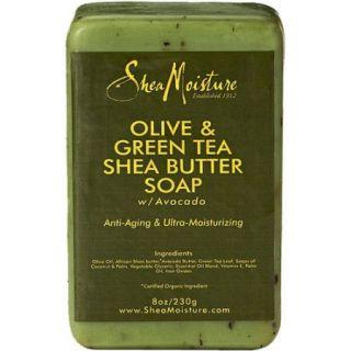 SheaMoisture Olive & Green Tea Shea Butter Soap, 8 oz
