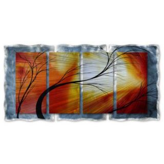 All My Walls 'Old Dirt Road' by Megan Duncanson Original Painting on Metal Plaque