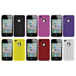 Perforated Mesh Apple iPhone 4 Rubberized Case (Pack of 2)   13079956