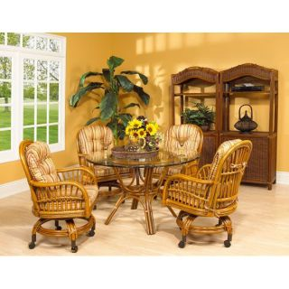 Boca Rattan 104014 Antigua Game Chair in Royal Oak with Cushion