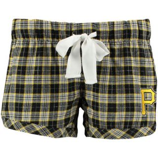 Pittsburgh Pirates Concept Sports Womens Ovation Sleep Shorts   Black