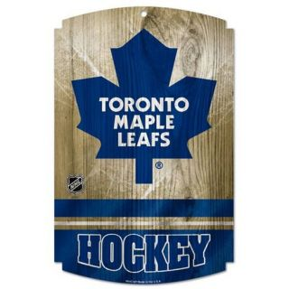 Toronto Maple Leafs 11 x 17 Wood Sign