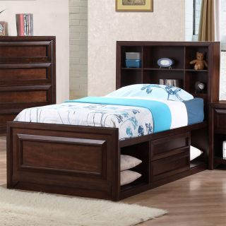 Coaster Furniture 400511T Jerico Twin Captain s Storage Bed in Maple Oak