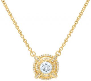 Judith Ripka Sterling & 14K Clad 1.40 cttw Diamonique Necklace —