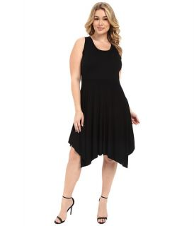 Karen Kane Plus Plus Size Jamie Angled Hem Dress