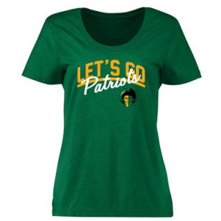 George Mason Patriots Womens Plus Sizes Lets Go T Shirt   Green