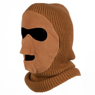 QuietWear Brown Knit and Fleece Patented Mask   14533714