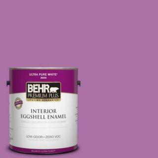 BEHR Premium Plus 1 gal. #670B 6 Orchid Kiss Zero VOC Eggshell Enamel Interior Paint 230001