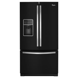 Whirlpool 26.8 cu ft French Door Refrigerator with Single Ice Maker (Black Ice) ENERGY STAR