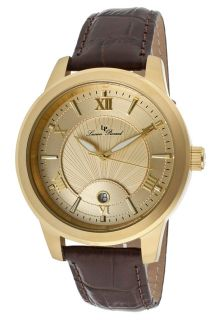 Pizzo Dark Brown Genuine Leather Gold Tone Dial Gold Tone SS