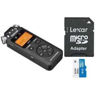 DR 05 B Tascam Tascam DR 05 Portable Handheld Digital Audio Recorder   Bundle With 16GB Class 10 MicroSDHC Card