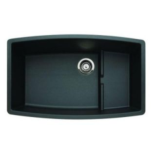 Blanco Performa Undermount Composite 32 in. Single Bowl Kitchen Sink in Anthracite 440064   Mobile