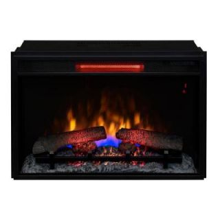 26 in. Infrared Quartz Electric Fireplace Insert with Flush Mount Trim Kit 85880 BB