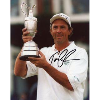 Tom Lehman  Authentic Autographed 8 x 10 Holding Trophy Photograph