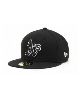 New Era Oakland Athletics Black and White Fashion 59FIFTY Cap   Sports