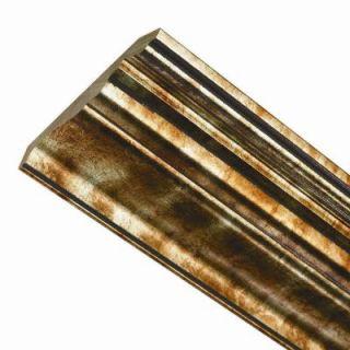 Fasade Classic 0.75 in. x 6.125 in. x 96 in. Wood Ceiling Crown Molding in Bermuda Bronze 175 17