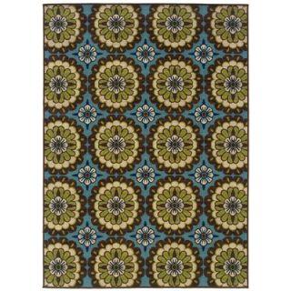 Wildon Home ® Capri Indoor/Outdoor Floral Blue & Brown Area Rug