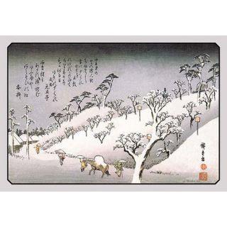 Buyenlarge Evening Snow in Asakusa by Utagawa Hiroshige Painting