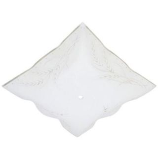 Westinghouse 1 1/2 in. Square Clear Wheat Design on White Ruffled Edge Diffuser with 12 in. Width 8180000