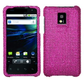 INSTEN Hot Pink Diamante Phone Case Cover for LG P999 G2X   15431149