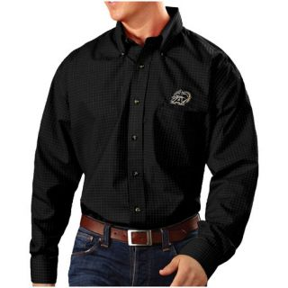 Antigua Army Black Knights Black Esteem Woven Button Down Long Sleeve Shirt