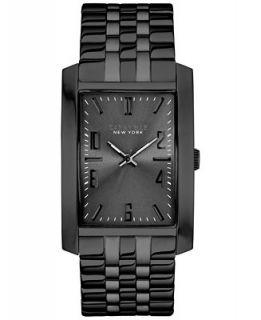 Caravelle New York by Bulova Mens Black Tone Stainless Steel Bracelet