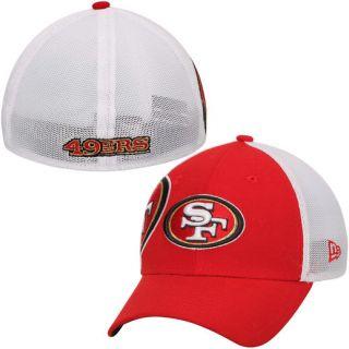 New Era San Francisco 49ers Scarlet Double Mesh 39THIRTY Flex Hat