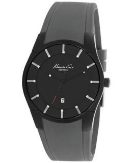 Kenneth Cole New York Mens Gray Silicone Strap Watch 42mm 10027723