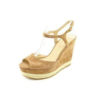 Via Spiga V Melia Womens Size 9 Brown Suede Wedge Sandals Shoes
