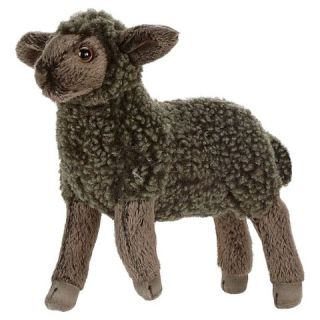 Hansa Black Little Lamb Plush Animal