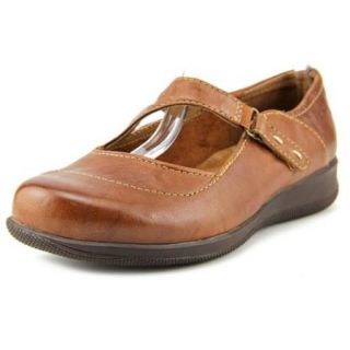 Softwalk Taylor Too Women US 7.5 WW Brown Mary Janes