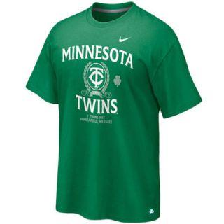 Nike Minnesota Twins Vintage St. Paddys Day Tri Blend T Shirt   Kelly Green