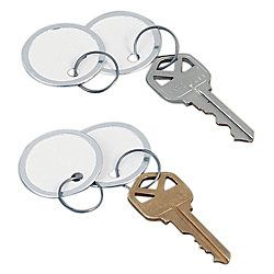 Avery Round Metal Rim Key Tags White Pack Of 50