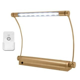 Rite Lite Wireless Gold 8 LED Picture Light with Remote Control LPL606XLGRC