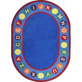Joy Carpets Kid Essentials Alphabet Spots Blue/Red Area Rug
