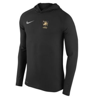 Army Black Knights Nike Lacrosse Performance Touch Hoodie   Black