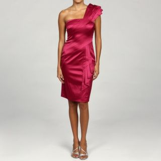 Jessica Simpson Womens Pink One shoulder Satin Dress   13731861