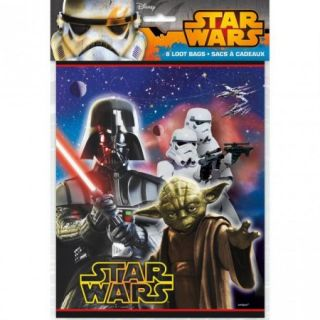 Disneys Star Wars   Loot Bags 8 Ct