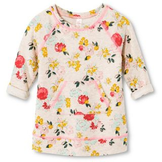 Toddler Girls Floral French Ferry Dress   Oatmeal