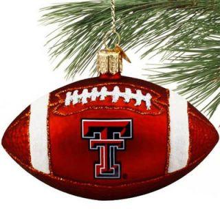 Texas Tech Red Raiders Glass Football Ornament