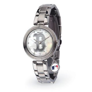 Boston Red Sox Womens Charm Stainless Steel Watch