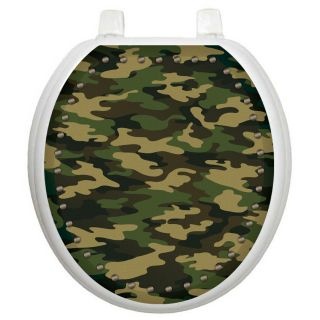 Youth Army Camouflage Toilet Seat Decal by Toilet Tattoos